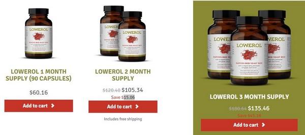 lowerol price